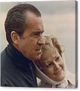 President And Pat Nixon In An Canvas Print