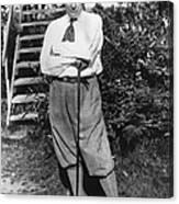 President Harding Playing Golf Canvas Print