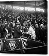President Herbert Hoover And Baseball Great Walter Johnson 1931 Canvas Print