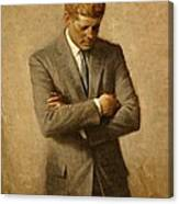 President John F. Kennedy Official Portrait By Aaron Shikler Canvas Print