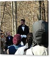 President Lincoln Speaks Canvas Print
