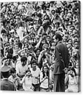 President Nixon Speaking To 2 000 Canvas Print