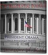 President Obama Inauguration Canvas Print