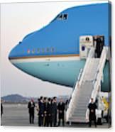 President Obama, Osan Air Base, Korea Canvas Print