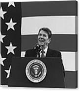 President Reagan American Flag  Canvas Print