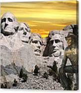 President Reagan At Mount Rushmore Canvas Print