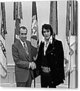 President Richard Nixon And Elvis Canvas Print