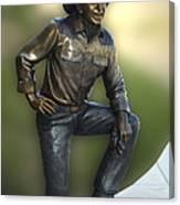 President Ronald Reagan Statue Canvas Print