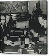 President Tito And Norwegian Premier Hold Political Talks Canvas Print