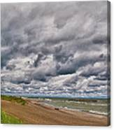 Presque Isle Beach 12061 Canvas Print