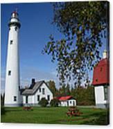 Presque Isle Mi Lighthouse 4 Canvas Print