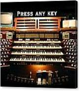 Press Any Key Canvas Print