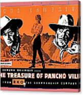 Pressbook The Treasure Of Pancho Villa 1955 Canvas Print