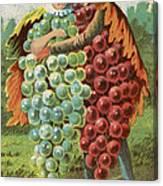Pressed Grapes Canvas Print