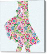 Pretty In Pink Flower Girl Canvas Print