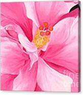 Dancing Hibiscus Painting Canvas Print