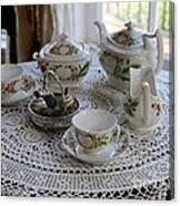 Pretty Tea Set Canvas Print