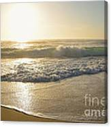 Pretty Waves At Glowing Sunrise By Kaye Menner Canvas Print