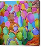 Prickly Pear Cactus-eye Candy Canvas Print