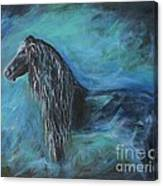 Pride Of Friesians Canvas Print