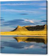 Priest Butte Reflects Into Wetlands Canvas Print