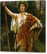 Priestess Bacchus Canvas Print