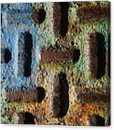 Primary. Secondary..rust... Canvas Print