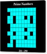 Prime Numbers As Invisible 211  293 Canvas Print