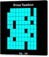 Prime Numbers As Invisible 701  797 Canvas Print