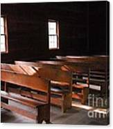 Primitive Church Canvas Print