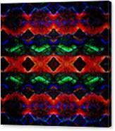 Primitive Textured Shapes Canvas Print