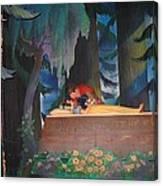 Prince Kisses Snow White Canvas Print