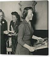 Princess Beatrix Of The Netherlands Receives Her Birthday Canvas Print