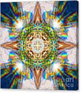 Prism Rainbow Mandala Canvas Print