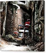 Prison Barbershop Canvas Print