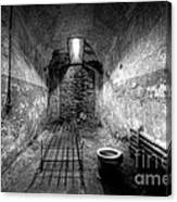 Prison Cell Black And White Canvas Print