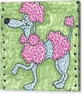 Prissy Poodle Canvas Print