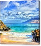 Private Beach At Wailea Maui Canvas Print