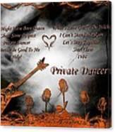 Private Dancer Canvas Print