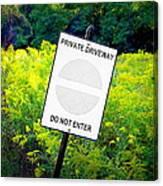 Private Driveway Canvas Print