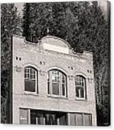 Private Wilkeson Town B And W Canvas Print
