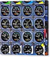 Concorde Controls Canvas Print