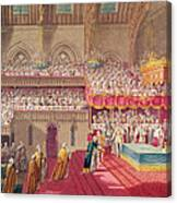 Procession Of The Dean And Prebendaries Of Westminster Bearing The Regalia, From An Album Canvas Print