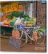Produce Market In Corbridge Canvas Print