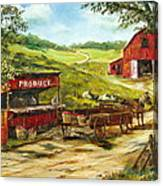 Produce Stand Canvas Print
