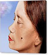 Profile Of A Filipina Beauty With A Mole On Her Cheek Altered Version Canvas Print