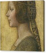 Profile Of A Young Fiancee Canvas Print