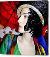 Profile Of Penelope Canvas Print