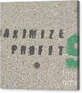 Profit Canvas Print