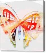 Profound Thought Butterfly Canvas Print